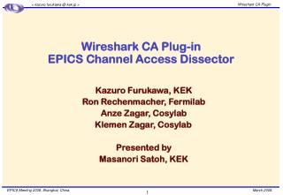 Wireshark CA Plug-in EPICS Channel Access Dissector