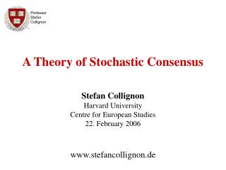 Professor Stefan Collignon