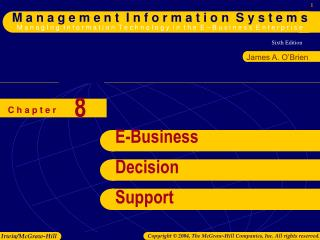 E-Business Decision Support