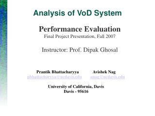 Analysis of VoD System