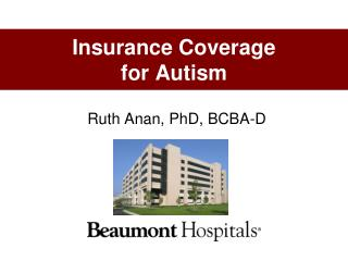 Insurance Coverage  for Autism