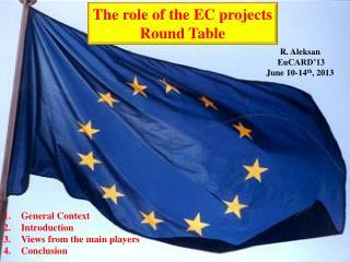 R .  Aleksan  EuCARD'13 June 10-14 th , 2013