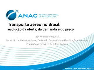 Transporte aéreo no Brasil:  evolução da oferta, da demanda e do preço