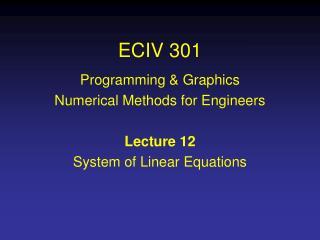 ECIV 301