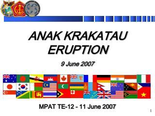 ANAK KRAKATAU ERUPTION 9 June 2007