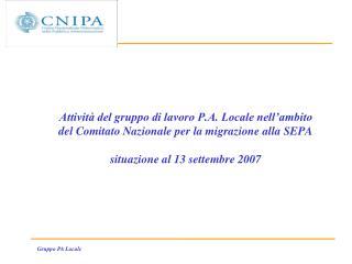 SEPA e Pubblica Amministrazione Locale