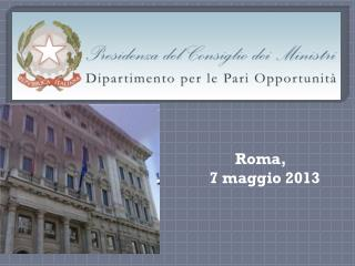 Roma,   7 maggio 2013