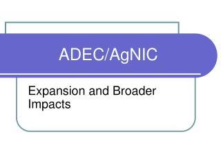 ADEC/AgNIC