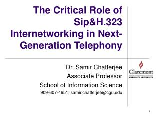 The Critical Role of  Sip&H.323 Internetworking in Next-Generation Telephony