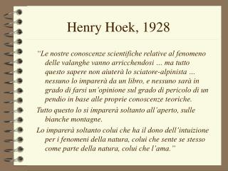 Henry Hoek, 1928