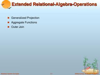 Extended Relational-Algebra-Operations