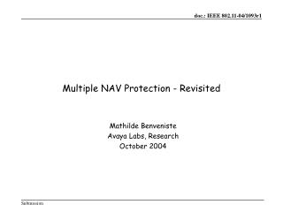 Multiple NAV Protection - Revisited