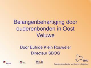 Belangenbehartiging door ouderenbonden in Oost Veluwe