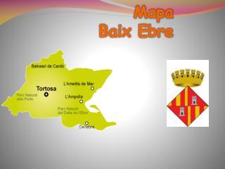 Mapa  Baix Ebre
