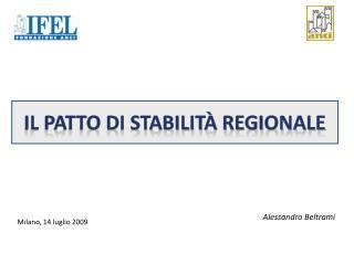 Il patto di Stabilità regionale