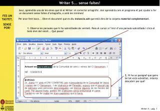 Writer 5... sense faltes!