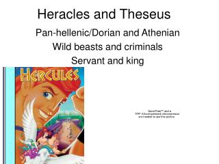 Heracles and Theseus