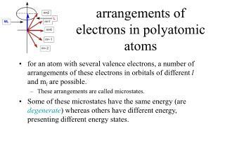 arrangements of electrons in polyatomic atoms