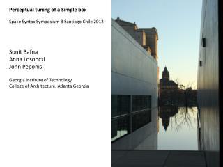 Perceptual tuning of a Simple box