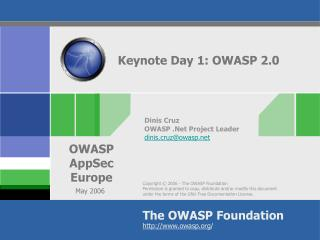 Keynote Day 1: OWASP 2.0
