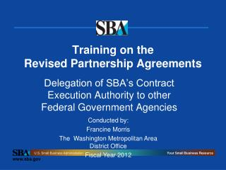 Training on the Revised Partnership Agreements