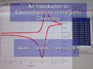 An Introduction to Electrochemistry in Inorganic Chemistry