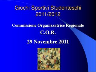 Giochi Sportivi Studenteschi  2011/2012