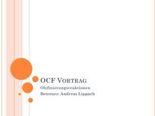 OCF Vortrag