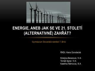 Energie, aneb jak se ve 21. století (alternativně) zahřát?