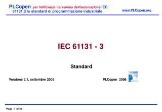 IEC  6 1131 - 3