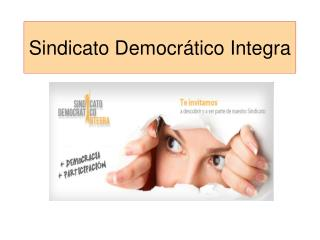 Sindicato Democrático Integra
