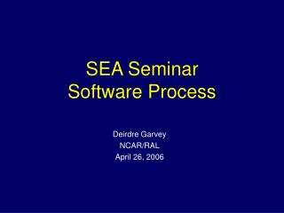 SEA Seminar Software Process