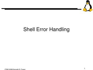 Shell Error Handling