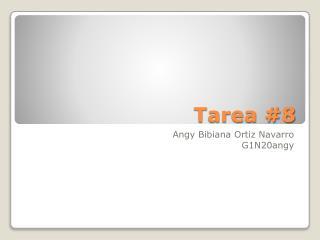 Tarea #8
