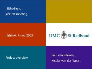 nEUroBlend  kick-off meeting