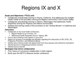 Regions IX and X