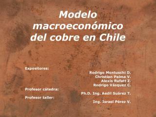Modelo macroecon�mico del cobre en Chile