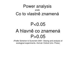 Power analysis aneb Co to vlastně znamená