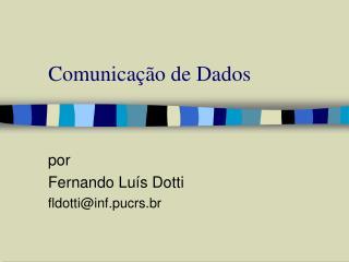 Comunica��o de Dados