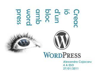 Creaci� d'un bloc amb                wordpress