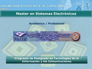 Programa de Postgrado en Tecnologías de la Información y las Comunicaciones
