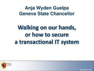 Anja Wyden Guelpa Geneva State Chancellor