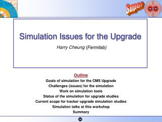 Simulation Issues for the Upgrade   Harry Cheung ( Fermilab)