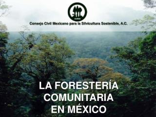 Consejo Civil Mexicano para la Silvicultura Sostenible, A.C.