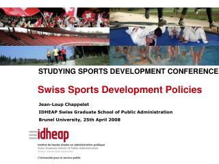 Swiss Sports Development Policies