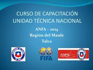 CURSO DE CAPACITACIÓN UNIDAD TÉCNICA NACIONAL