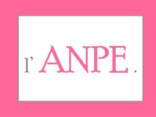 l' ANPE .