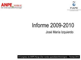 Informe 2009-2010
