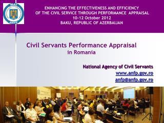 Civil Servants Performance Appraisal in Romania