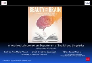 Innovatives Lehrprojekt am Department  of  English  and Linguistics WS 2012/13 und  SoSe  2013